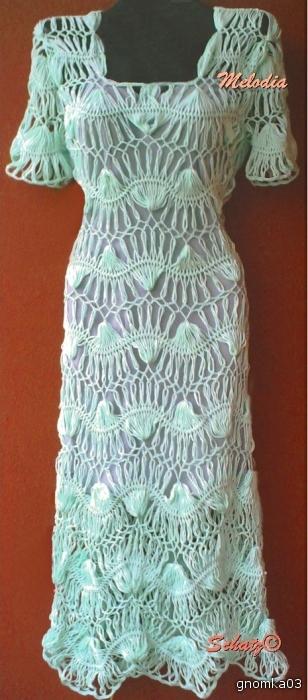 Платье вязаное на вилке (не я