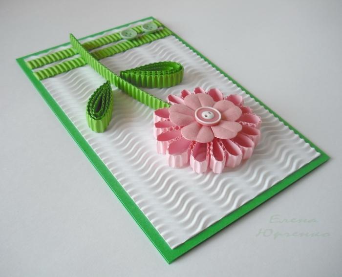 Открытки своими руками из бумаги и картона с цветами из
