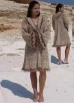 Легкое эксклюзивное вязаное пальто-накидка