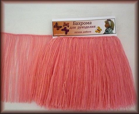 Приклеивать нужно, начиная с внешней стороны к макушке по спирали.  Цвет розовый. Для кукол тех, кто любит всё розовое и нежное.