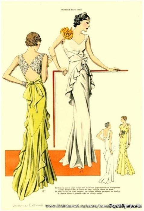Мода 30-х годов ХХ века.