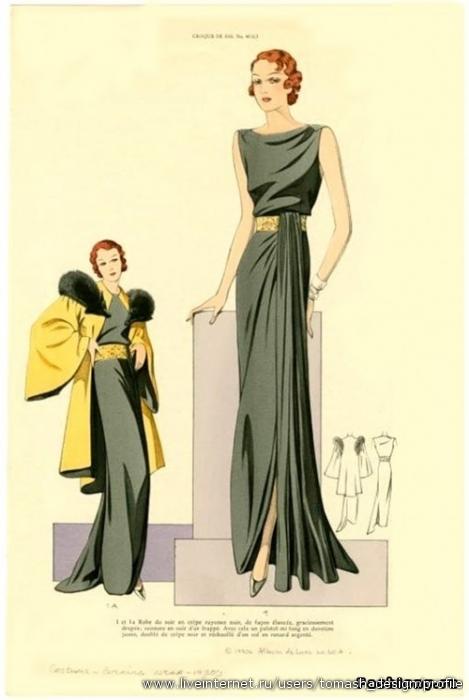 Платья 30 х годов вечерние