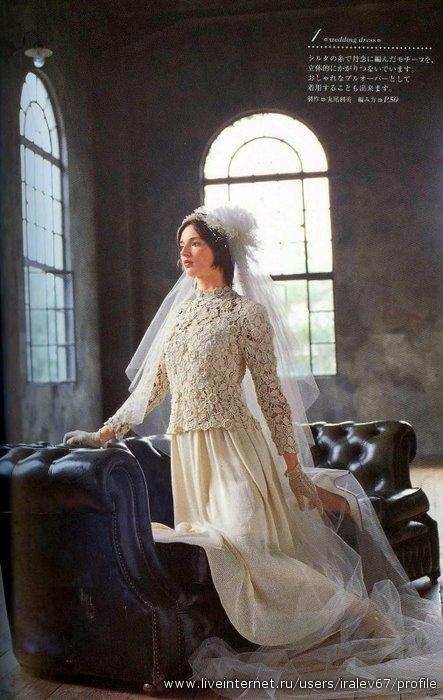 Свадебное платье ручное работы отличается оригинальностью от платьев...