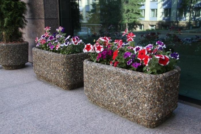 Вазоны для цветов уличные своими руками фото