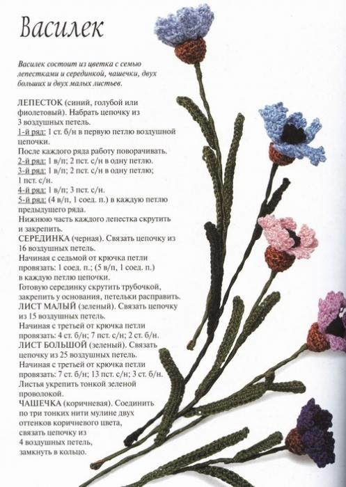 Цветы крючком.