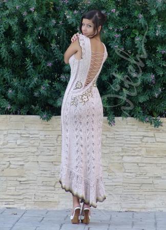 Вязаные нарядные платья спиц