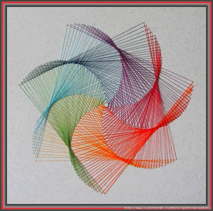 вышивание на картоне нитками схема