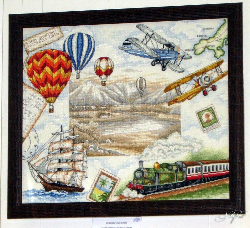 Схема вышивки путешественники 99