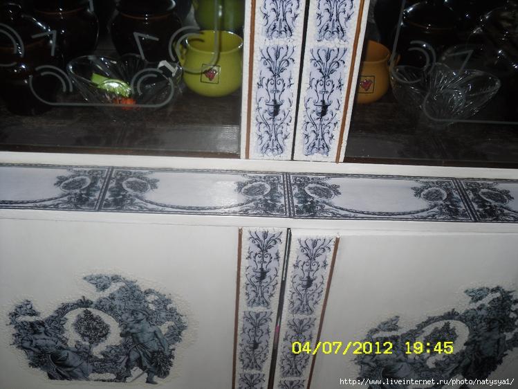 Декупаж мебельной стенки салфетками своими руками 74