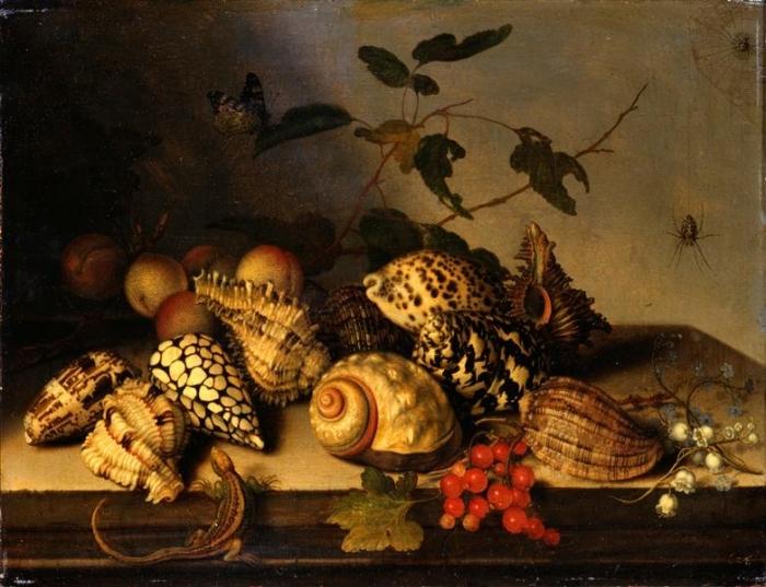 Балтазар ван дер Аст. Натюрморт с моллюсками и фруктами
