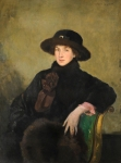 Alfred Robert Hayward ARWS, RP, NEAC, IS (1875-1971)Portrait of an Elegantly Dressed Lady