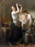 Edmond Leclercq (French, 1817 Arras - 1853 Paris) Morning toilet
