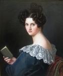 Ernst Joseph Thelott (1802 Duesseldorf - 1833 Augsburg) Portrait of Fanny Fischer