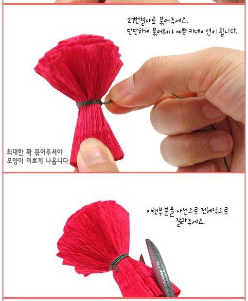 Как сделать гвоздику из гофрированной бумаги поэтапно