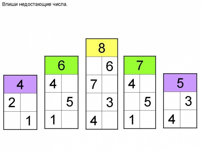Состав числа 10 домики