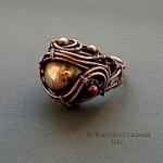 Кольцо - медь, патинирование