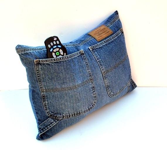 Подушка из джинс своими руками