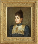 Tito CONTI (1842-1924)Woman portrait