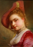 Lady In Pink  - Gustave Jean Jacquet