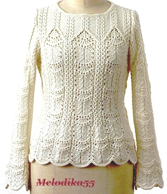 Спицы.Пуловер.