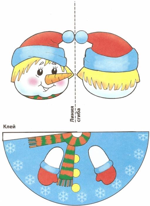 Как сделать снеговика из бумаги своими руками на елку