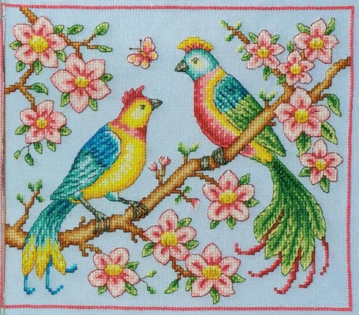 Сказочные птицы вышивка