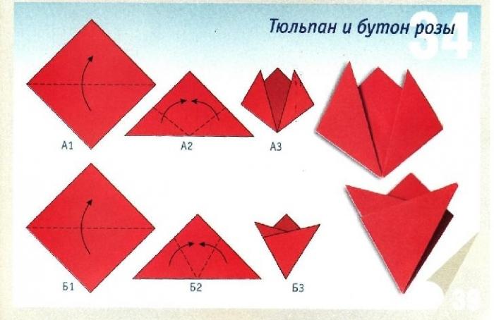 Оригами в детский сад