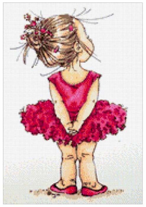 Вышивка схемы маленькая девочка