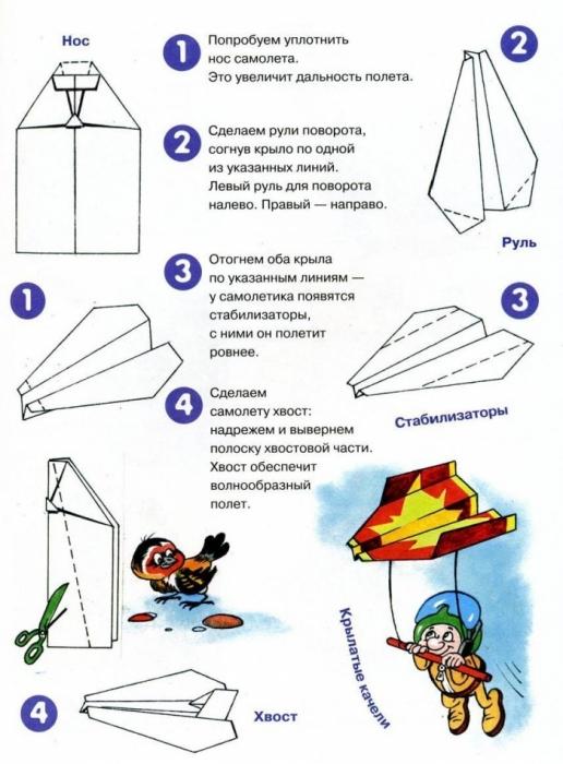 Как сделать летающий бумажный самолета