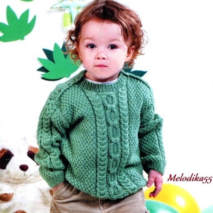 Вязаный свитер для мальчик 71