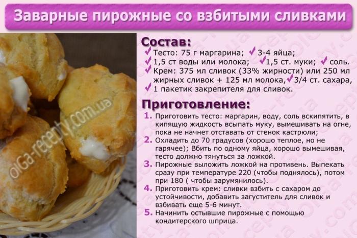 Заварные в домашних условиях рецепт пошагово