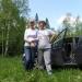 Весна с дочкой Танюшкой