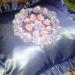 Подушка украшенная ленточной вышивкой