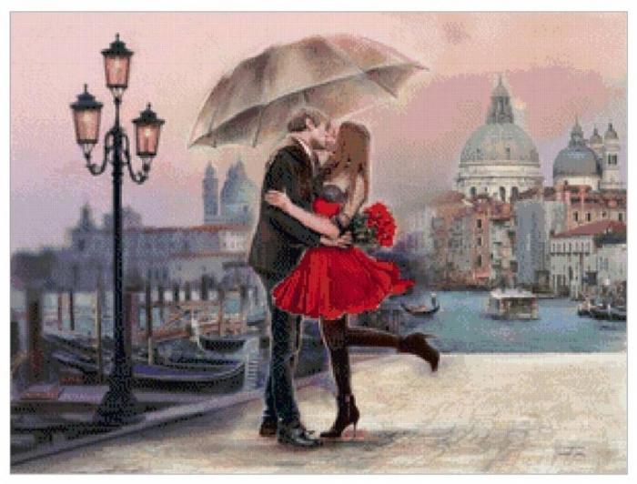 Поцелуй под дождем,
