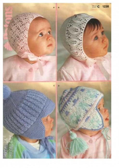 Как связать спицами шапку для новорожденных видео