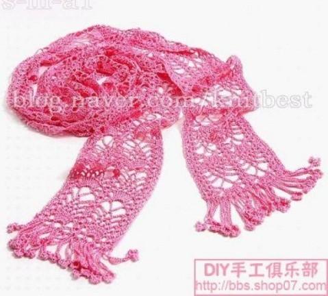 Схемы вязания крючком шарфы.
