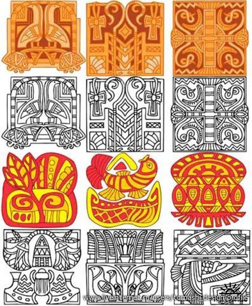 Этнические орнаменты в векторе.