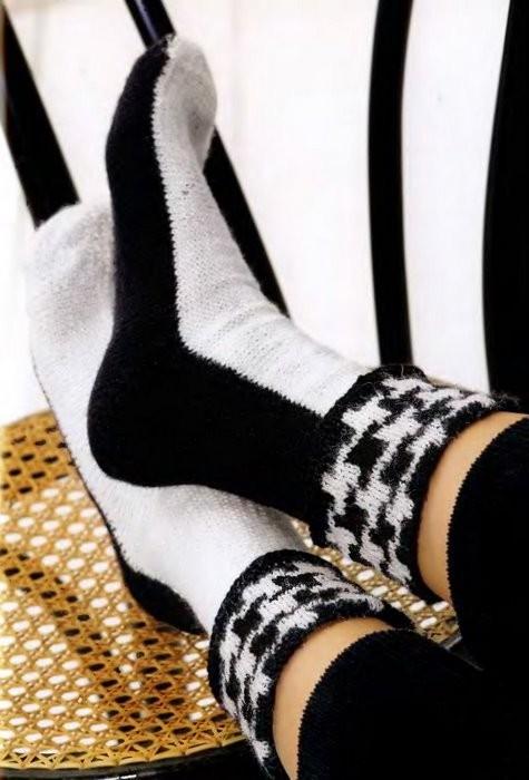 Схема вязания носков.
