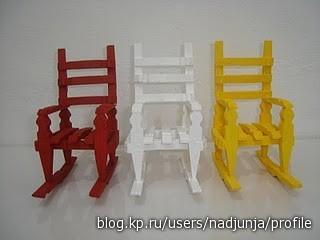 Миниатюрные стульчики своими руками