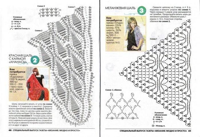 Вязание крючком палантин крючком схемы и описание
