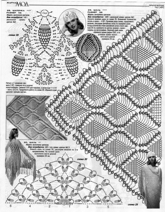 Вязание крючком шали схемы с подробным описание фото