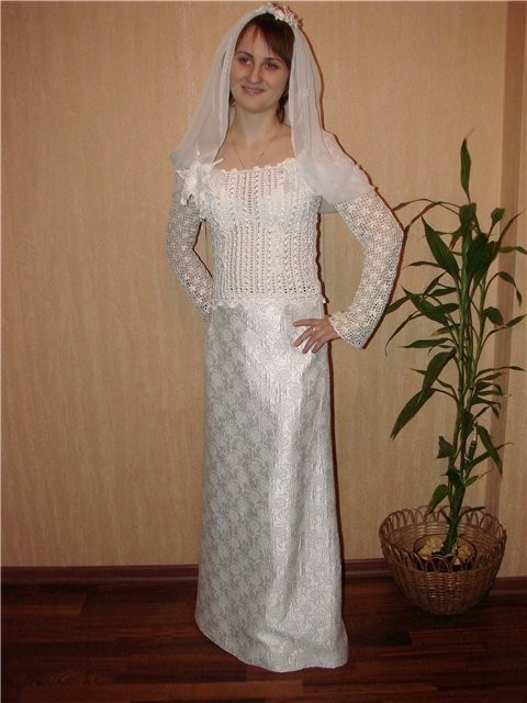 Свадебные платья вязаные крючком со