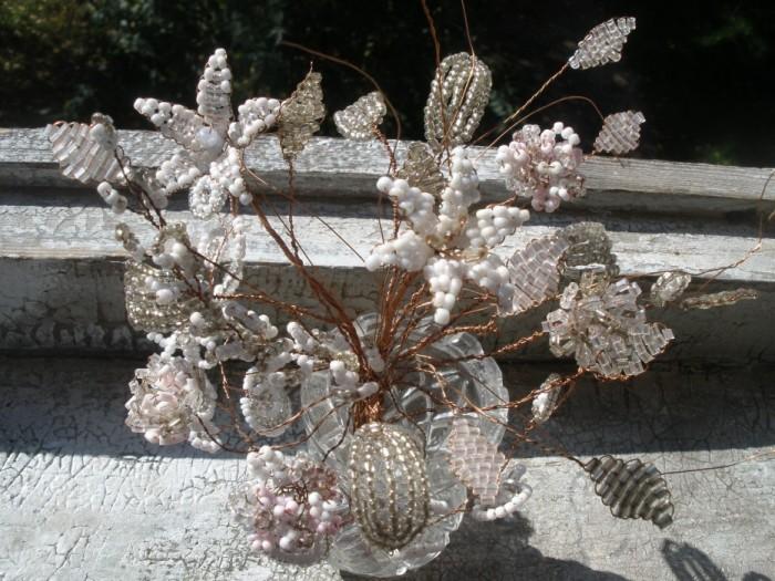 цветы из бисера 1