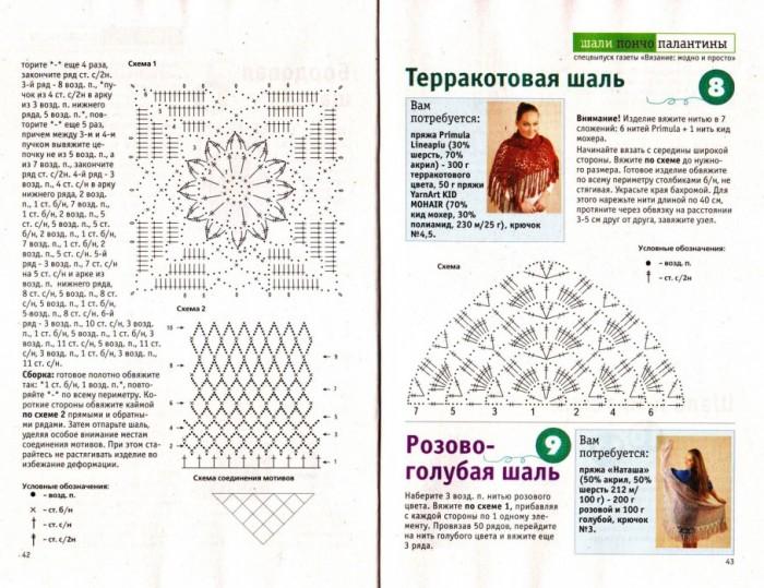 белый палантин крючком схема поездов маршруту Саранск