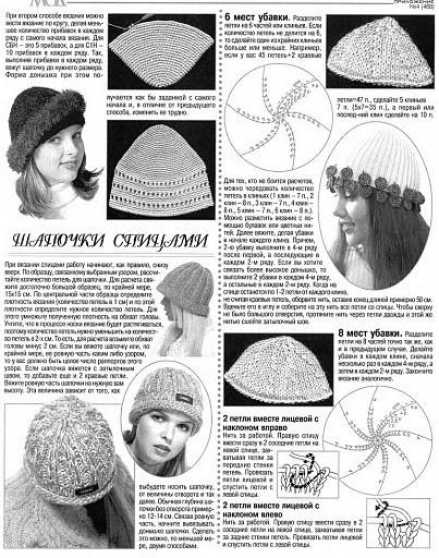 Как сделать на шапке узор