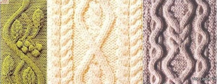 красивые схемы и узоры вязания крючком.