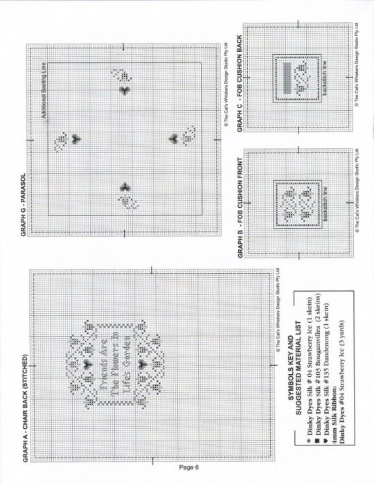 Как видно на схеме, для вышивки спинки кресла, нам понадобится разместить узор размером 43 х 47 крестиков.