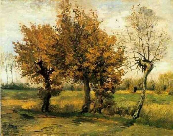 Autunno Alberi Vincent van Gogh