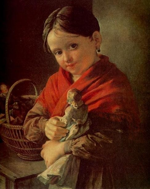 В. Тропинин. Девочка с куклой.
