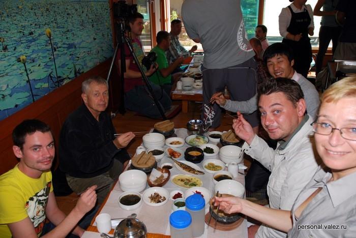 Традиционная корейская еда на обед
